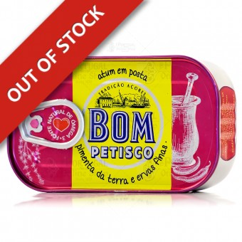 Bom Petisco Canned Solid Tuna in Vegetable Oil with Bell Pepper & Fine Herbs - Azores - 120g
