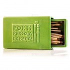Stoneware Faience Matchbox with Sandpaper - Green - Por Ti Perco a Cabeça