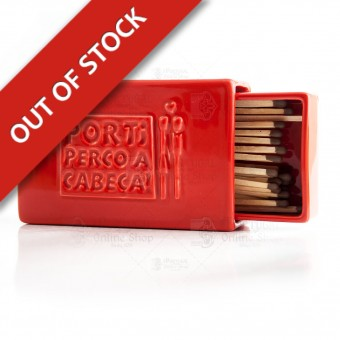 Stoneware Matchbox with Sandpaper - Red - Por Ti Perco a Cabeça