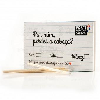 Por Ti Perco A Cabeça - Bilhetinho - Note - Large Matchbox