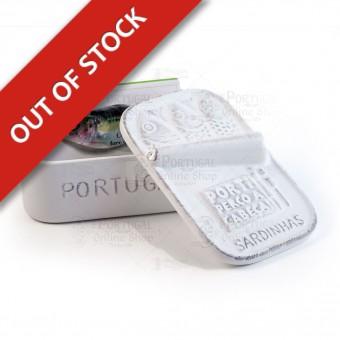 Stoneware Faience Sardine Can - White - Por Ti Perco a Cabeça