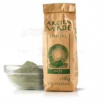 Natural Exfoliating French Green Clay - Variable Weight -