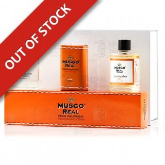 Musgo Real White Gift Box Shave Set Orange Amber - Claus Porto